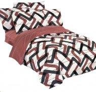 Pościel bawełna satynowa dwustronna 160x200 lub 140x200 z prześcieradłem wzór 4218