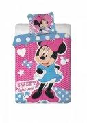 Pościel dziecięca Licencyjna do łóżeczka 100x135 wz. Minnie Mouse 019