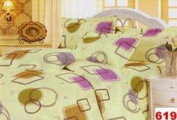 Poszewka na poduszkę 40x40 - 100% bawełna satynowa wz.710 guzik