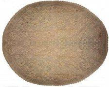Obrus  szydełkowy 559 biały rozmiar: 180 koło  beżowy