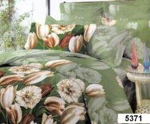 Pościel bawełna satynowa 220x200 z prześcieradłem na zamek - wz. 5371