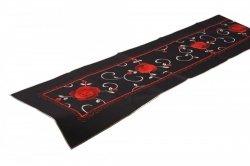 Obrus FLAMENCO 40x170 haftowany, kolor: czarny