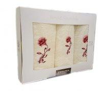 Trzyczęściowy komplet ręczników Banan w pudełku - K1 - Ecru