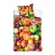 Pościel młodzieżowa 100% bawełna 160x200 lub 140x200 - Owoce wz. NL161013