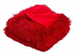 Koc / Narzuta Włochacz 150x200 wz. 003 Czerwień