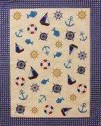 Ścierka GRECJA rozm 52x65cm wz. 31 morski niebieski