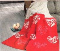 Koc GRENO WALENTYNKOWY 150x200 wz. Romantic Czerwień