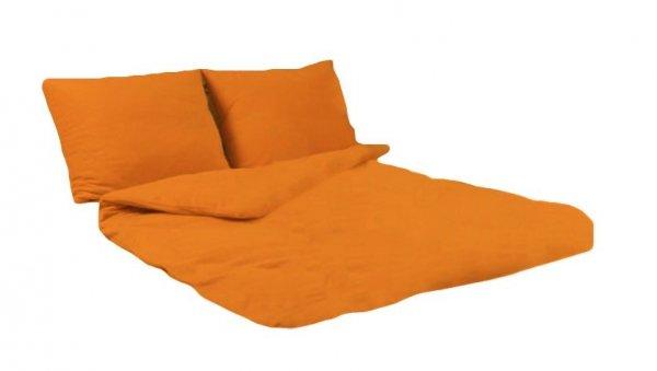 Pościel POLAROWA 160x200 , super miękki polar wz. pomarańcz