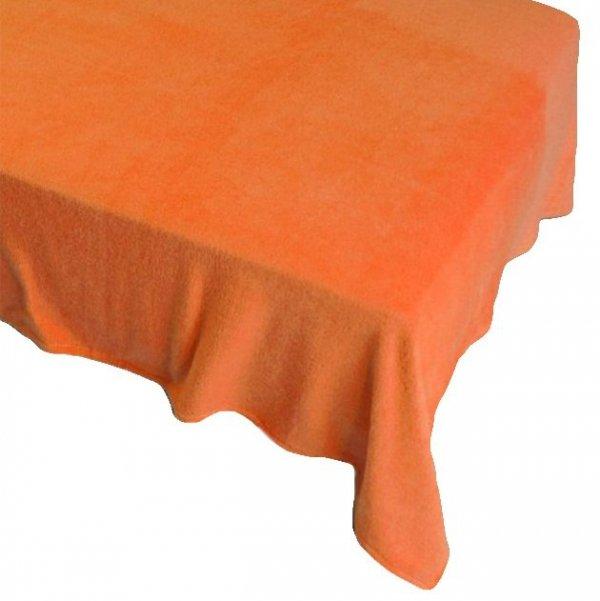 Prześcieradło POLAROWE 200x220 , super miękki polar wz. pomarańczowy