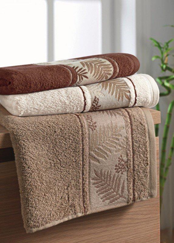 Ręcznik Bambusowy -  70x140 Tropical  BEŻ