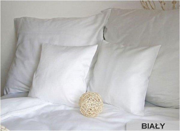 Poszewki na poduszki 40x40 satyna ANDROPOL wz. biały