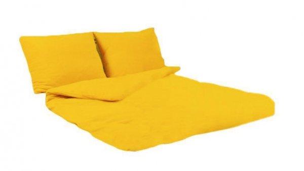 Pościel POLAROWA 160x200 , super miękki polar wz. żółty