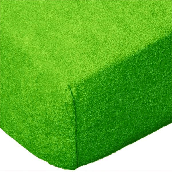 Grube Prześcieradło FROTTE 140x200 na gumkę wz. K21 zielony