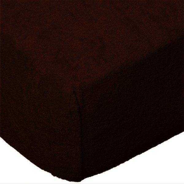 Grube Prześcieradło FROTTE 120x200 na gumkę wz. 030 czekoladowy