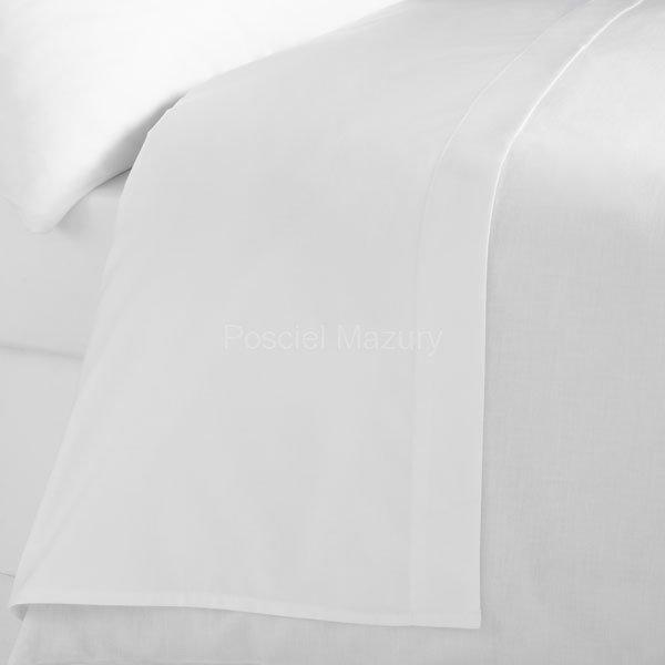Prześcieradło białe hotelowe, hotel 220x200, 100% bawełna