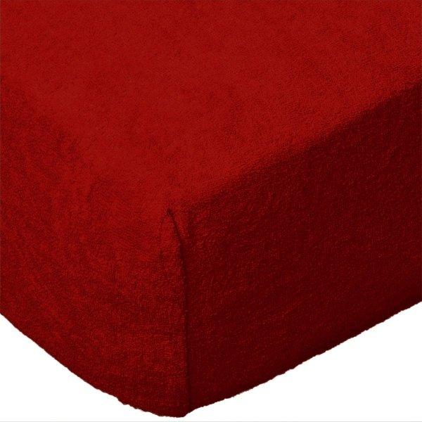Grube Prześcieradło FROTTE 160x200 na gumkę wz. 029 czerwony