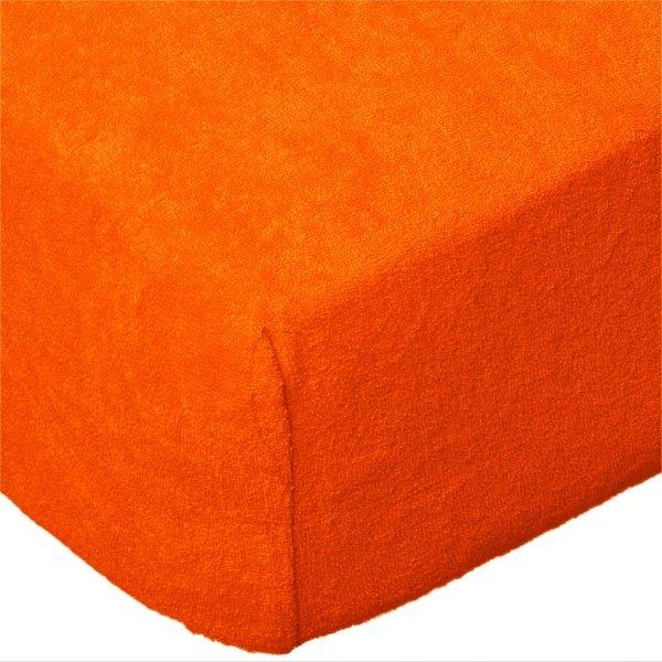 Grube Prześcieradło FROTTE 90x200 na gumkę wz. K31 pomarańczowy