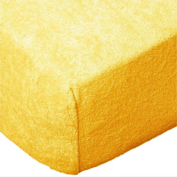 Grube Prześcieradło FROTTE 90x200 na gumkę wz. 06 żółty