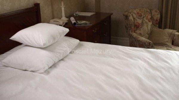 Poszewka, poszewki na poduszkę biała hotelowa, hotel 70x80, 100% bawełna