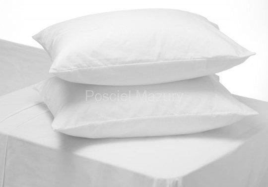 Poszewka, poszewki na poduszkę biała hotelowa, hotel 50x60, 100% bawełna