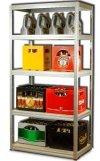 Metallregal Steck-Lager- Schwerlastregal bis 400 kg pro Boden , verzinkt , HZ_180x110x60,5 Böden