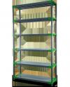 Plastikregal Kunststoffregal Steckregal  Jupiter-5-80 (180x80x46), 5 Böden, 3 Farben