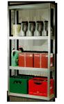 Metallregal Steck-Lager- Schwerlastregal bis 400 kg pro Boden , verzinkt , HZ_180x075x30,4 Böden