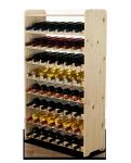 Weinregal für 56 Flaschen Massiv RW-3-56P