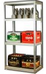 Metallregal Steck-Lager- Schwerlastregal bis 400 kg pro Boden , verzinkt , HZ_180x090x60, 4 Böden