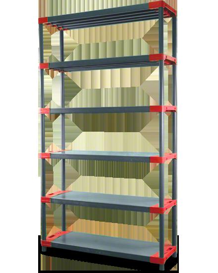 Plastikregal Kunststoffregal Steckregal Tytan-5-90 (180x90x46), 5 Böden, 3 Farben
