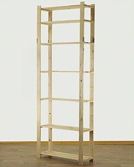 Holzregal 7 Böden 220x80x28 cm B-28