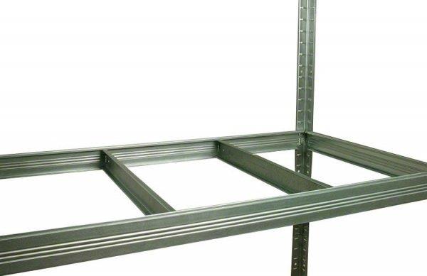 Metallregal Steck-Lager- Schwerlastregal bis 400 kg pro Boden , verzinkt , HZ_213x090x45, 5 Böden