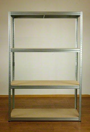 Metallregal Steck-Lager- Schwerlastregal bis 400 kg pro Boden , verzinkt , HZ_180x110x45, 4 Böden