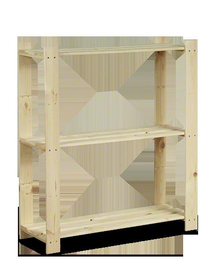 Holzregal 3 Böden 90x80x28 cm B-26