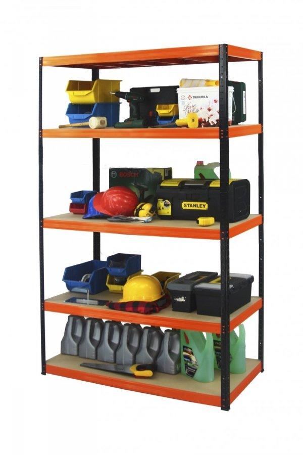 Metallregal Werkstatt Schwerlastregal Helios 213x110x50_5 Böden, Tragkraft bis 400 Kg pro Boden,  Viele Farben zur Auswahl