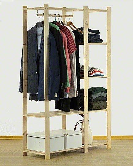 Kleiderschrank  5 Böden 170x110x38 cm B-25