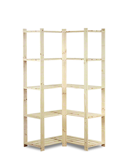 Holzregal 5 Böden 170x85x38cm B-20