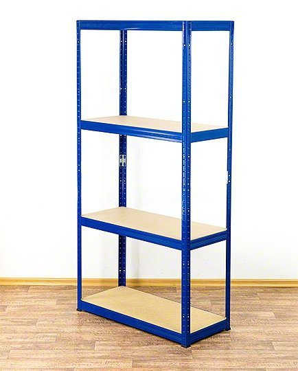 Metallregal Werkstatt Schwerlastregal Helios 180x100x30_4 Böden, Tragkraft bis 400 Kg pro Boden,  Viele Farben zur Auswahl