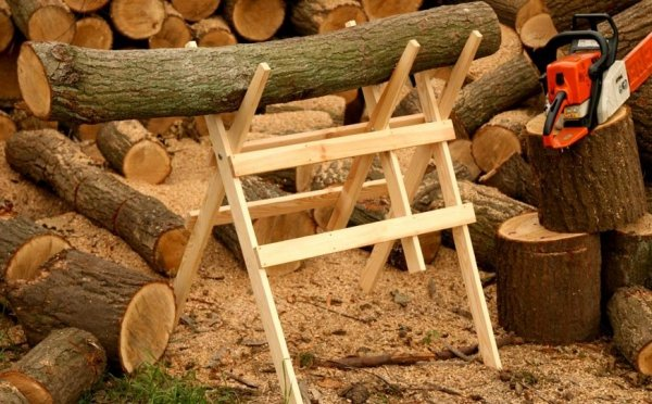 Sägebock Klappbock Holzbock zum Sägen von Holz Brennholz Holzsägebock KD-1000