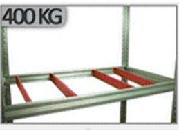 Metallregal Steck-Lager- Schwerlastregal bis 400kg pro Boden , verzinkt , HZ_213x110x30, 6 Böden