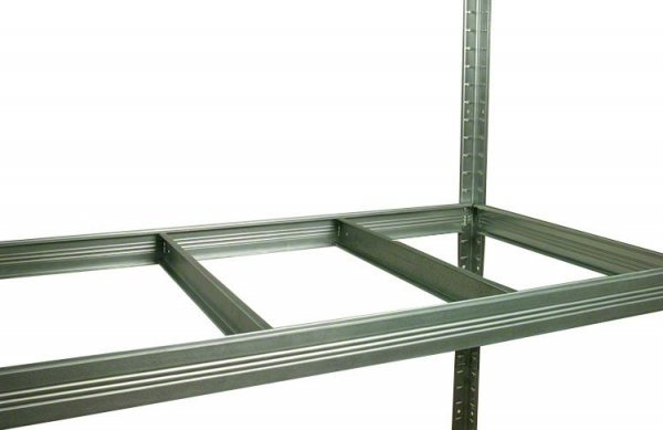 Metallregal Steck-Lager- Schwerlastregal bis 400 kg pro Boden , verzinkt , HZ_213x120x35, 5 Böden