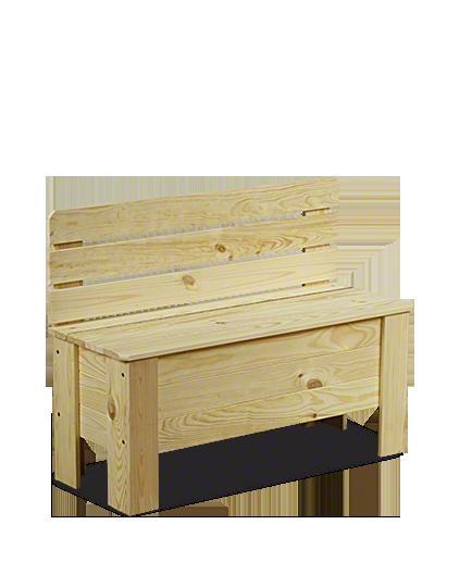 Holztruhe  Truhenbank Sitzbank für Kinder Spielkiste B-12 /unbehandelt