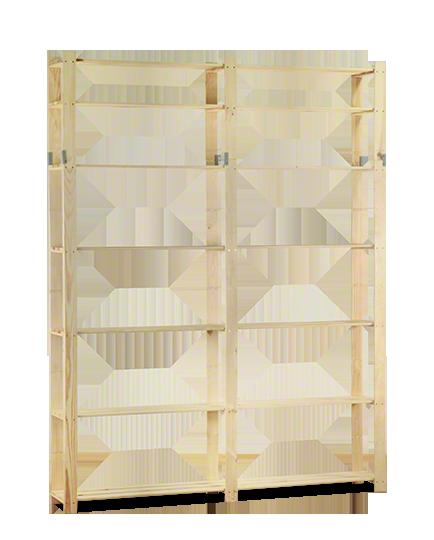 Holzregal 5 Böden 220x170x28 cm B-31