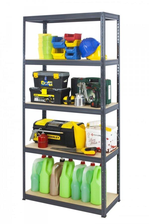 Metallregal Werkstatt Schwerlastregal Helios 213x090x45_5 Böden, Tragkraft bis 400 Kg pro Boden,  Viele Farben zur Auswahl