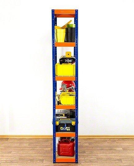 Metallregal Werkstatt Schwerlastregal Helios 213x100x30_6 Böden, Tragkraft bis 400 Kg pro Boden,  Viele Farben zur Auswahl