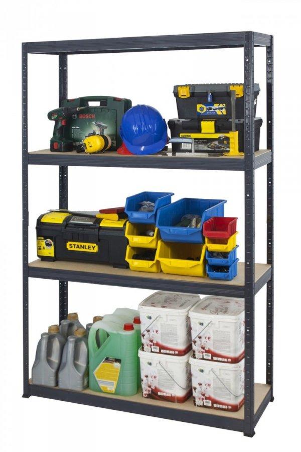Metallregal Werkstatt Schwerlastregal Helios 180x120x45_5 Böden, Tragkraft bis 400 Kg pro Boden,  Viele Farben zur Auswahl