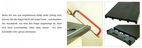 Plastikregal Kunststoffregal Steckregal  Tytan-4-150(138x150x46), 4 Böden, 3 Farben