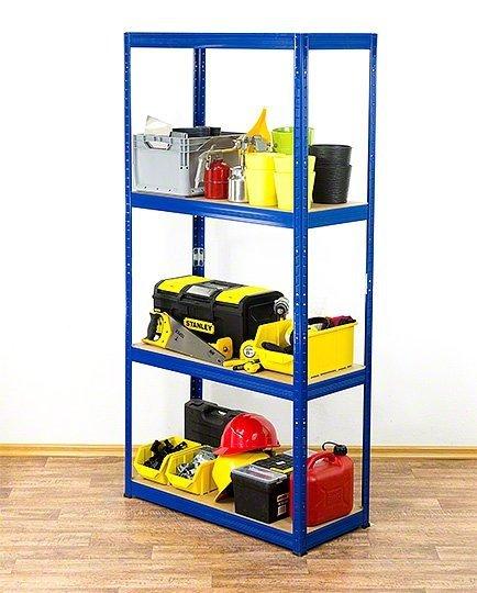 Metallregal Werkstatt Schwerlastregal Helios 180x120x35_4 Böden, Tragkraft bis 400 Kg pro Boden,  Viele Farben zur Auswahl