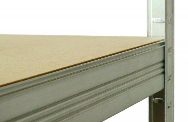 Metallregal Steck-Lager- Schwerlastregal bis 400 kg pro Boden , verzinkt , HZ_196x100x35, 5 Böden