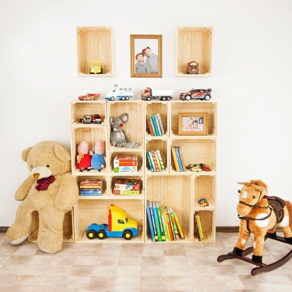 SET Holzkisten  SD-3-60x40 im 4-er Set in einer Größe,  unbehandelt oder geölt